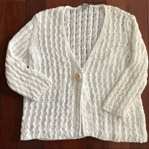 J. Jill White Cotton Sweater size M